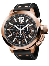 CEO Canteen Chrono 50mm Crono preto & rosa com data