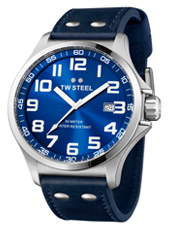 Pilot  48mm Steel & Blue Watch with Date