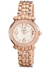 Nice Rose Gold, White & Crystals Ladies Watch